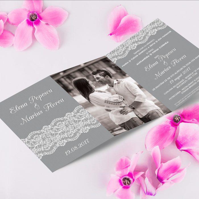 Invitatie nunta cu poza