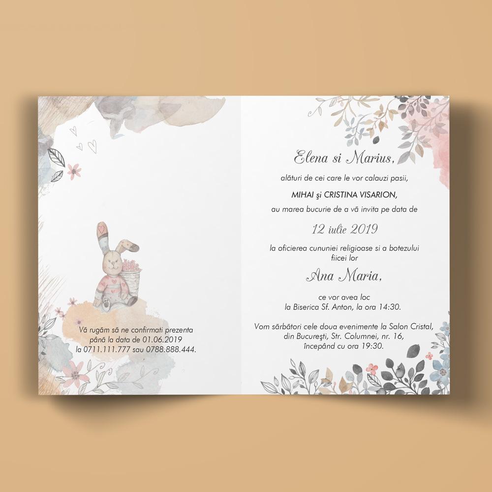 Invitatie Nunta Si Botez 2 In 1 Weddpaper