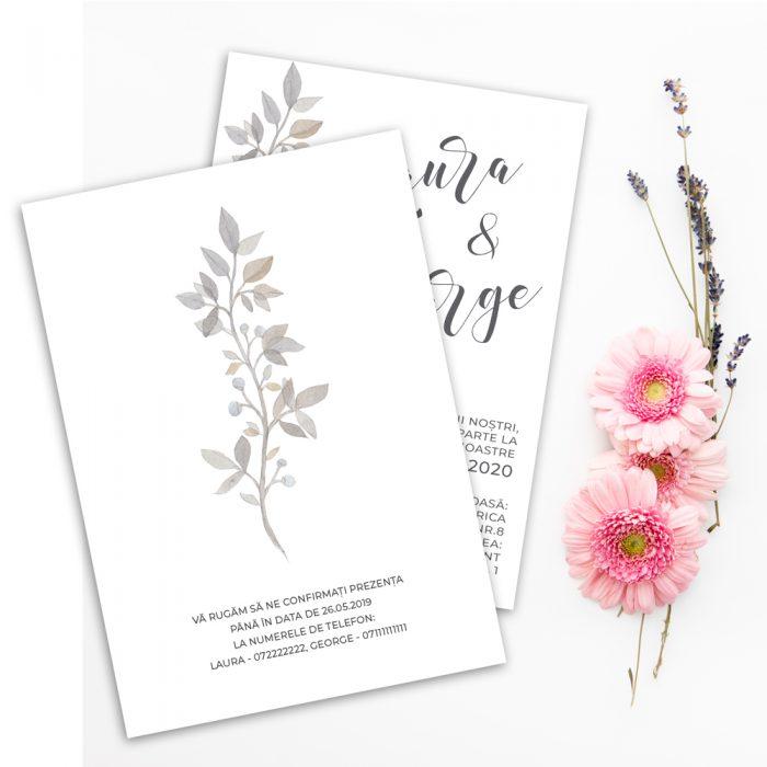 invitatie nunta stil minimalist