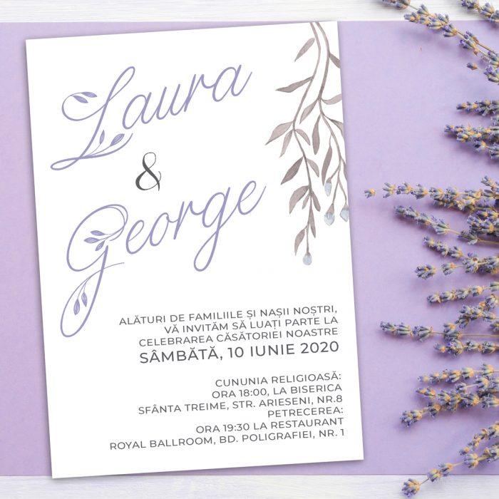 invitatie nunta simpla
