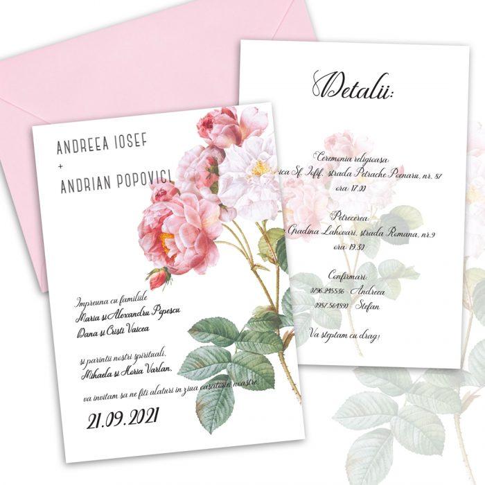 Invitatie trandafir