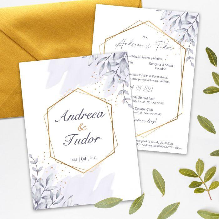 invitatie watercolor