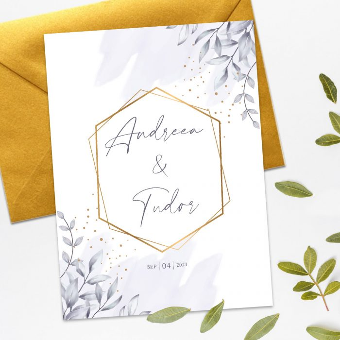 invitatie watercolor