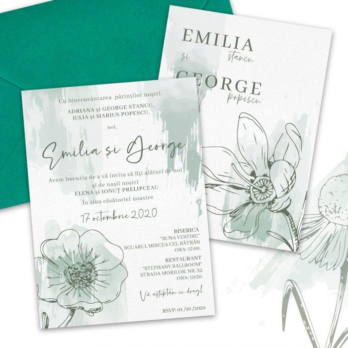 invitatie de nunta garden